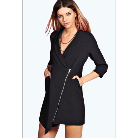 803bc592a92c BooHoo Zipped Jacket Dress