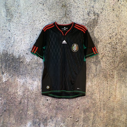 dfbd05f33 ON HOLD* black ADIDAS Mexico football/soccer jersey with - Depop
