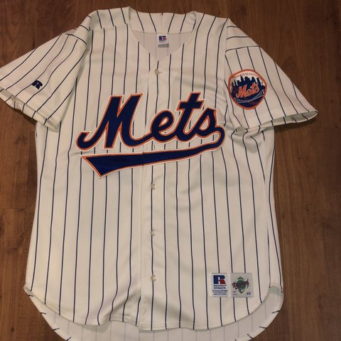 9534734e9e0 90's New York Mets Vintage Jersey Pinstripes! Great (Fits if - Depop