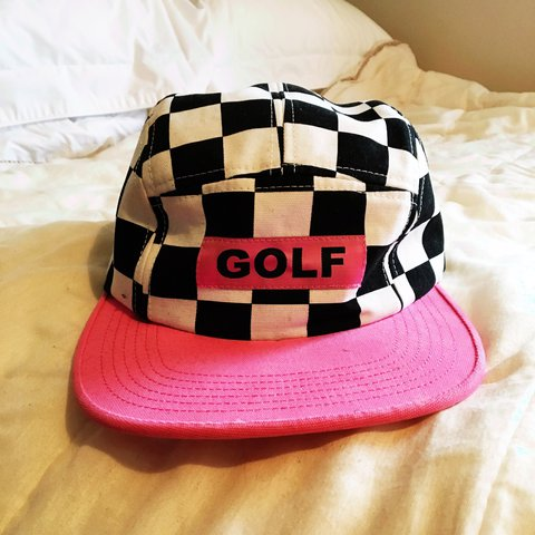 045393a6f6f1 Golf Wang checkered five panel hat. Bought with the aim of - Depop