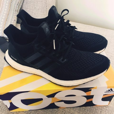 c23be7e4b Adidas ultra boost size 10 black (tts fit) 9.5 10 condition - Depop