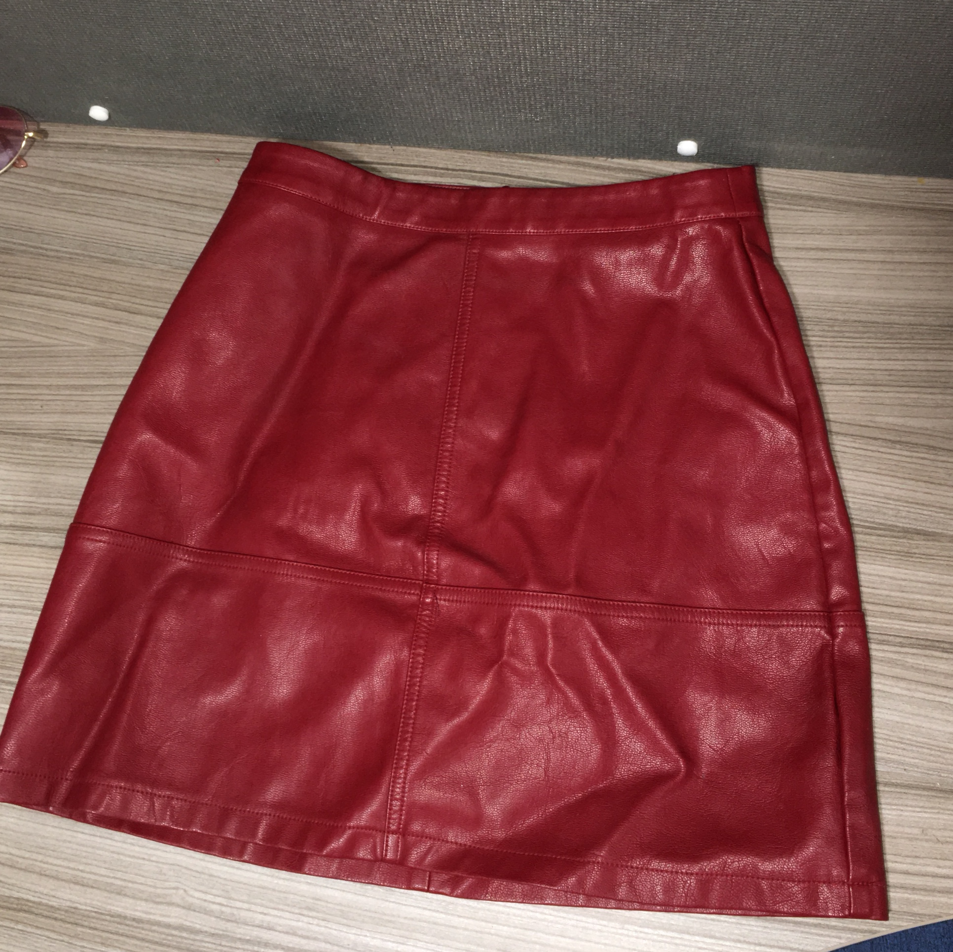 Good Prices los angeles drop shipping New look red leather skirt ❤️ Size 8 Never worn only ...