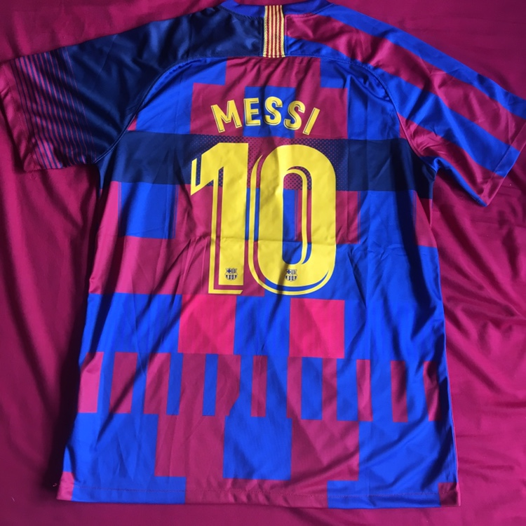 cheaper aa623 9c2c2 FC Barcelona 20th Anniversary Mashup Jersey L Messi ...