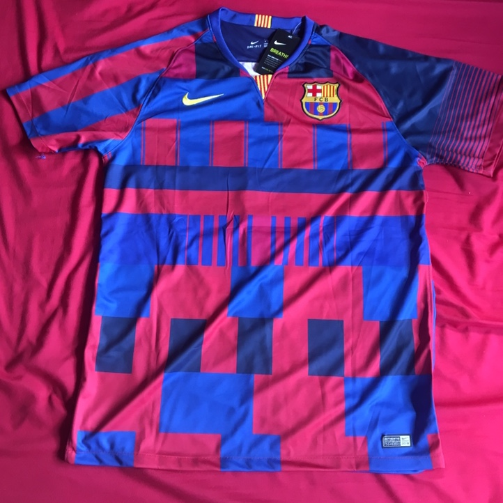 on sale 665ed 20214 FC Barcelona 20th Anniversary Mashup Jersey L Messi... - Depop