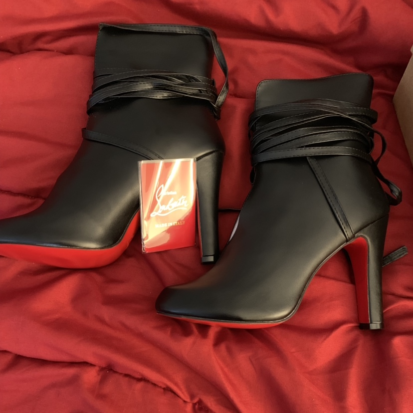 wholesale dealer 9062d 07289 Beautiful Red Bottom ankle boots. Never worn. Great... - Depop