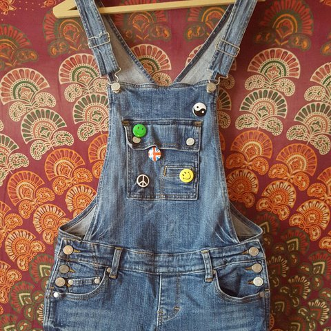 5ebad97d33a Denim Dungarees size S (would say best fits size 6). from UK - Depop