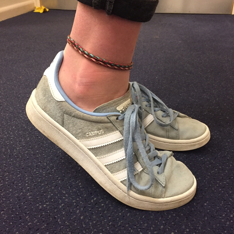 Blue Adidas campus ~ Pale blue with