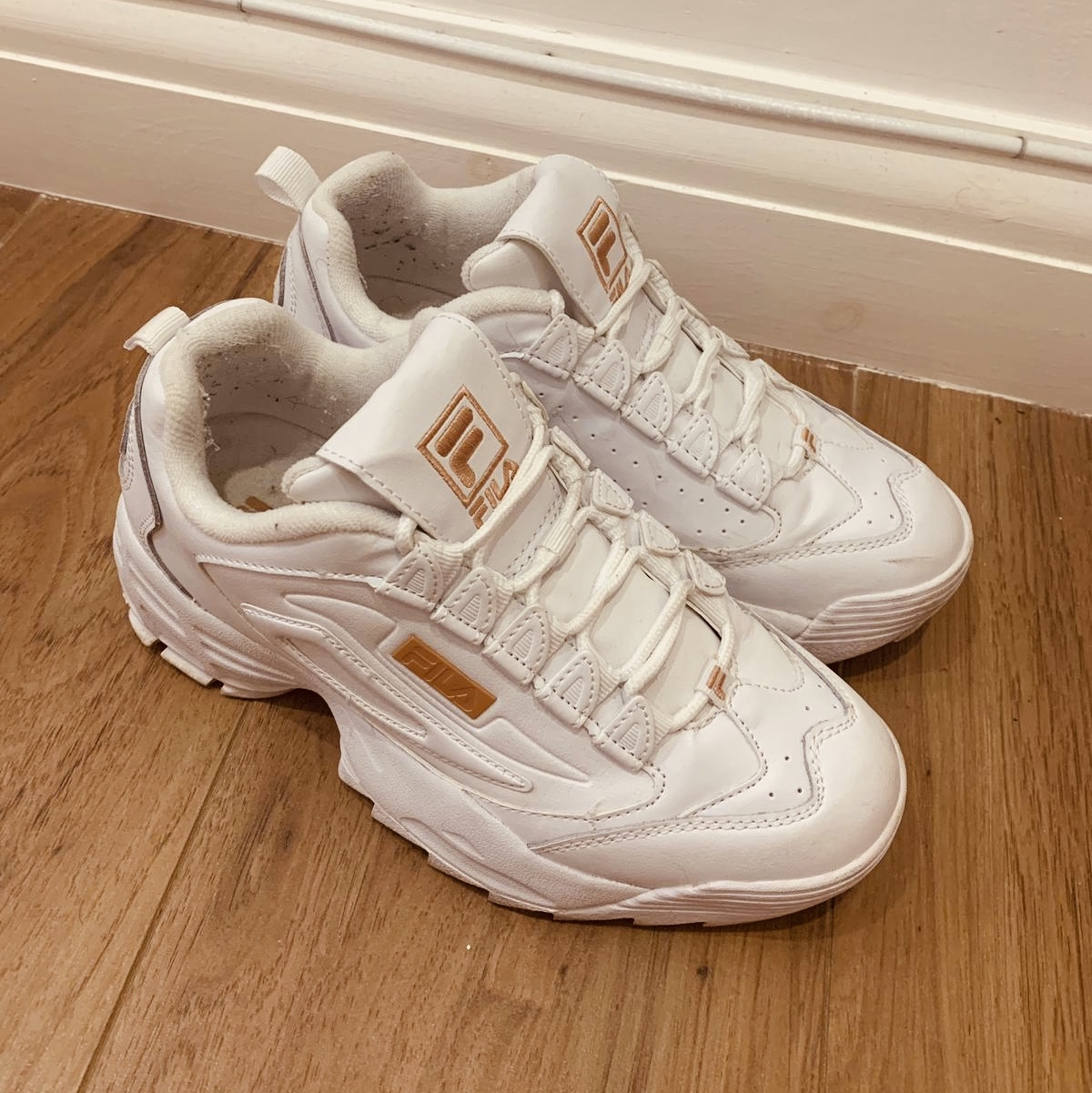 buy \u003e rose gold fila trainers, Up to 73