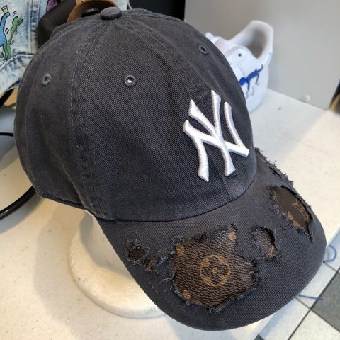 9d2b3119bbcd3 NY Yankees X LV -HandMade by me using 100% Authentic Fabric - Depop