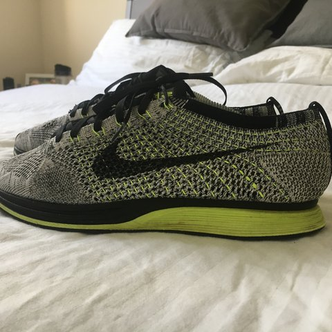 free shipping a880d 3a5c2  tobydenney. 2 years ago. Southampton, UK. Nike flyknit racer. UK 8. Oreo  volt colour way