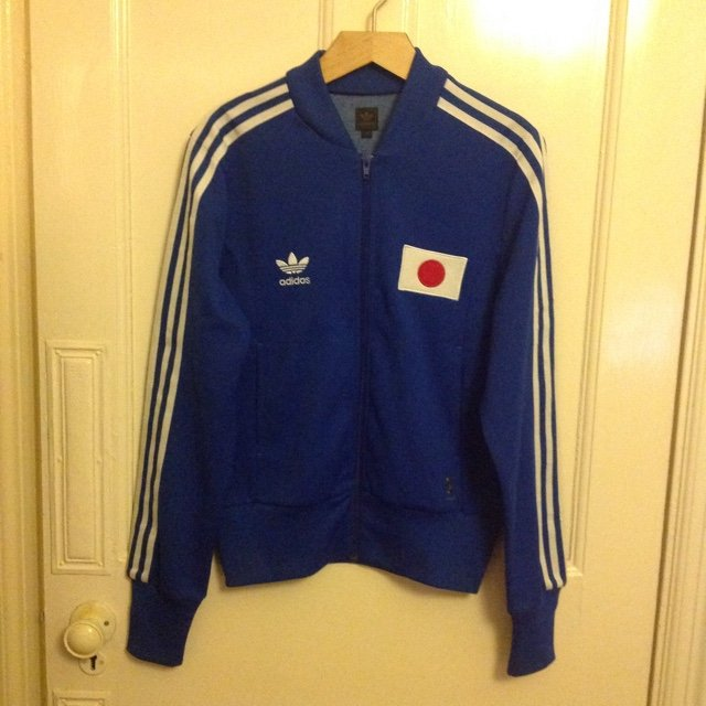 cbe2303d1d4a REDUCED🇯🇵Adidas Nippon   Japan blue jacket. Bright blue at - Depop