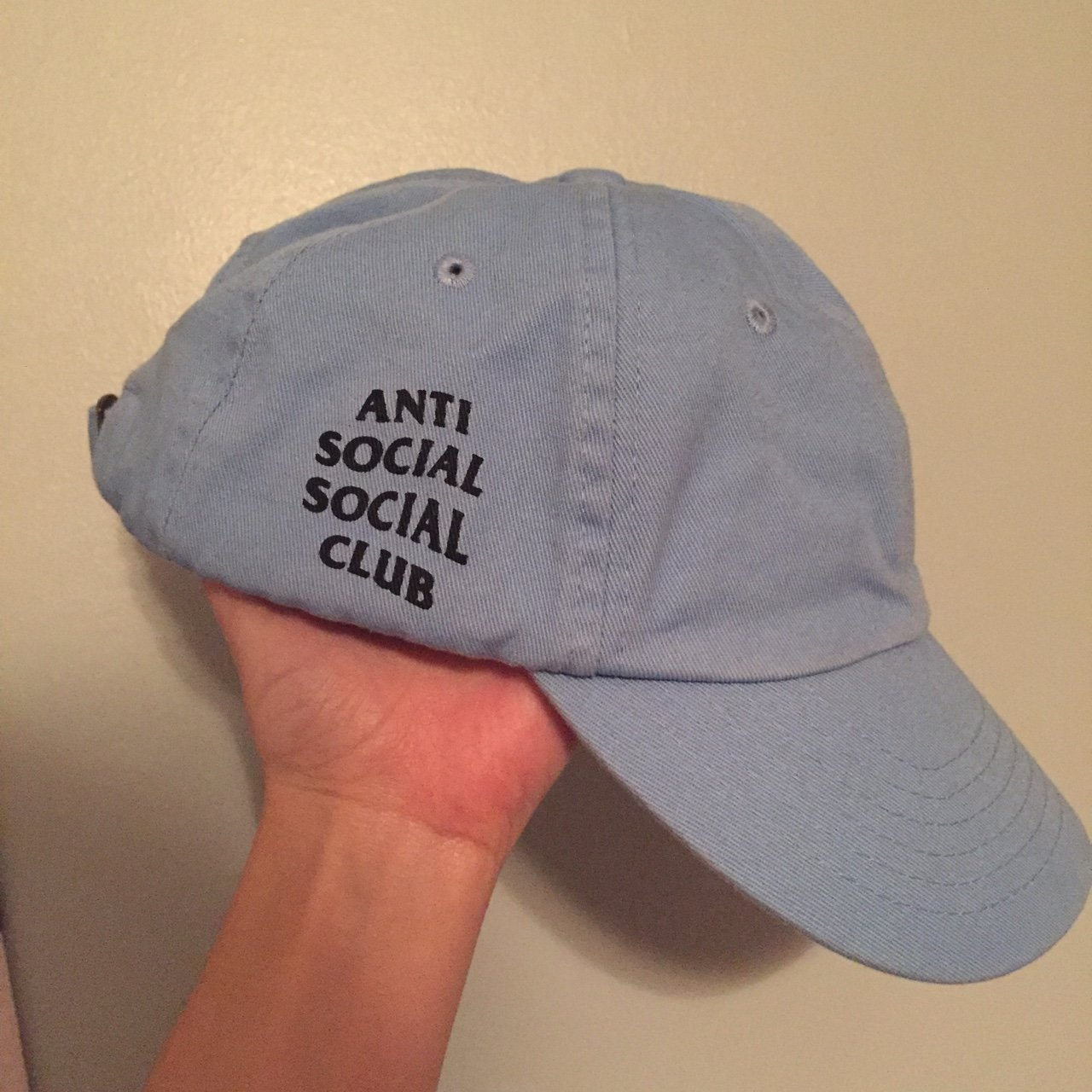 Anti Social Social Club light blue hat in great condition - Depop e5acb362cac