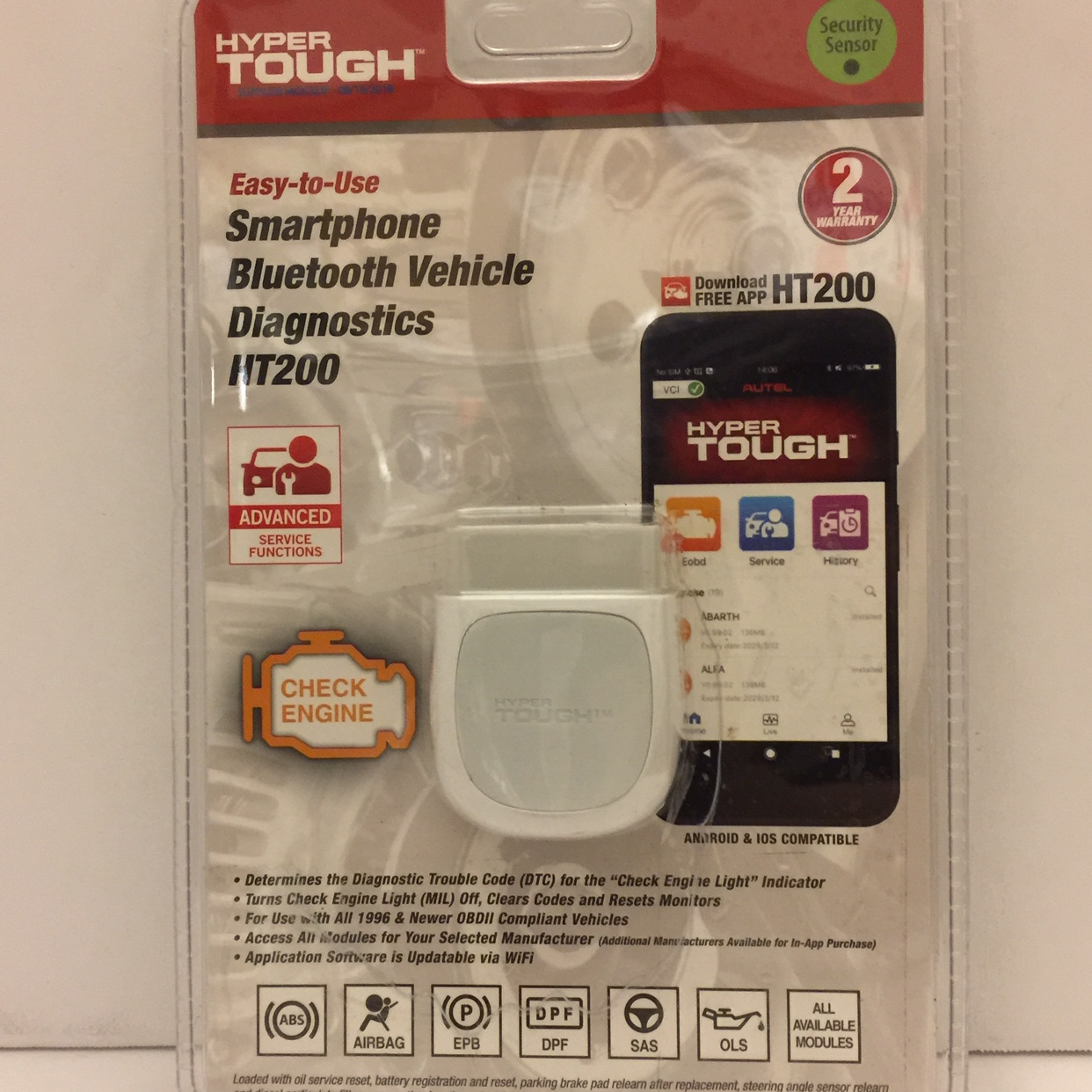 Hyper Tough HT200 Bluetooth Mobile Scan Tool Vehicle    - Depop