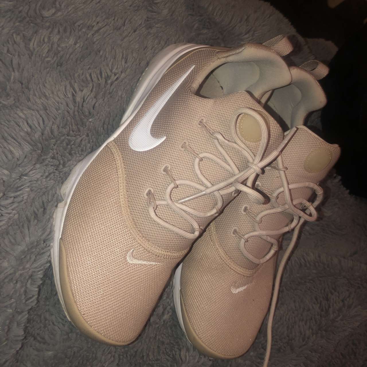 light pink nike trainers bought from jd worn twice depop light pink nike trainers bought from jd