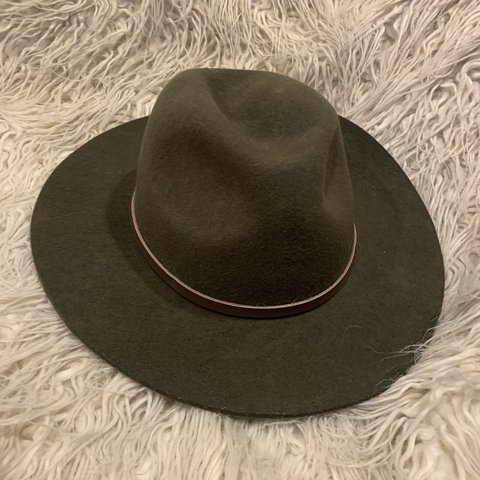 e3a07d94 @blackcloud77. 2 months ago. Long Beach, United States. Wonderful olive  green wide brim fedora. By Will & Bear