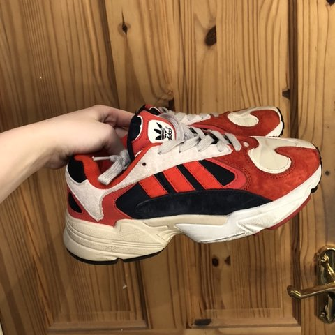 42478eceb Adidas yung-1 trainers in navy   red. FYI they re fake from - Depop
