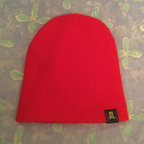 5fc2cb09124 Teddy Fresh Red beanie with ted logo Barely worn Perfect no - Depop