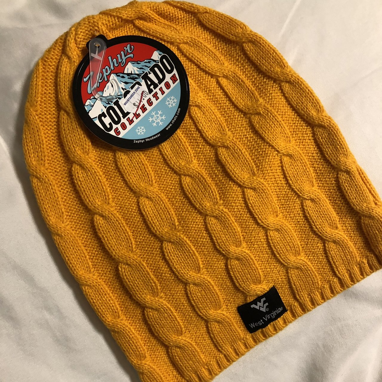 West Virginia University beanie❄️Mustard yellow color. Never - Depop b0f6042ba336