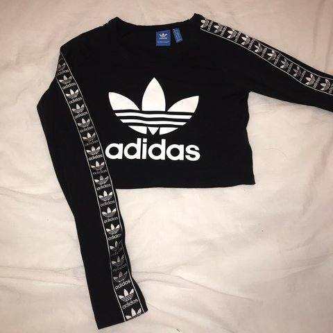 4d1f5b3f4e5ee Adidas long-sleeve black crop top •worn only for photo