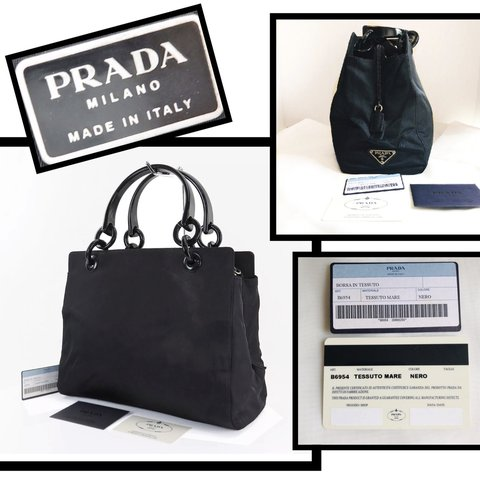 21fa6cefd927 @tinabe2627. 27 days ago. Wakefield, United States. Beautiful Prada Black  nylon tote handbag ...