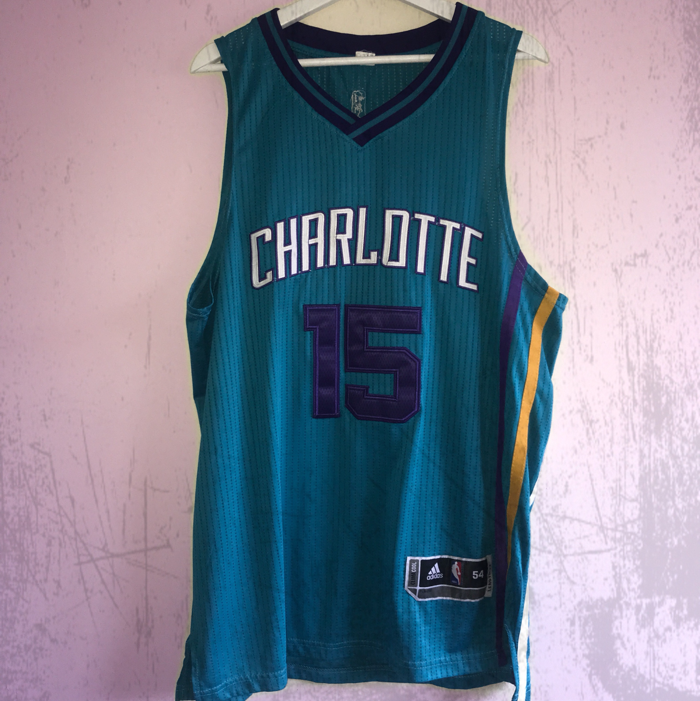 new product 35773 af23f NBA Charlotte Hornets Jersey New Orleans Adidas... - Depop