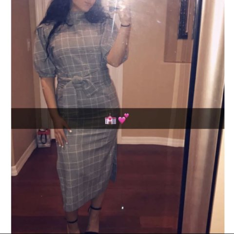 541d6988 @christine_kay111. 3 months ago. Phoenix, United States. Zara Plaid Pleated  Dress. Midi length with slit on the side. Worn once, perfect condition.