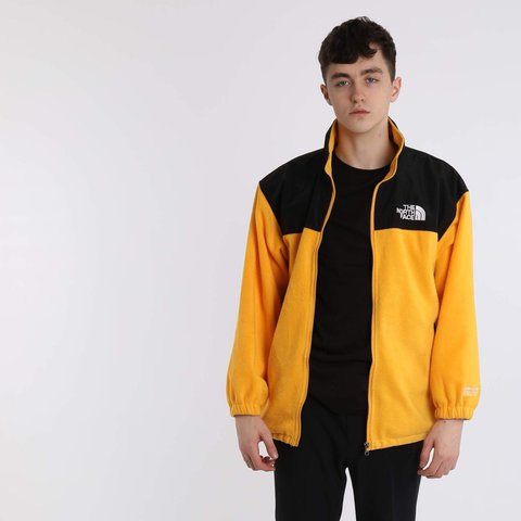 28287e209ab4 The North Face Fleece Jacket Yellow Black Size M 28