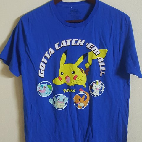c7c084414 Vintage pokemon shirt, mid 2000's, catch em all, pikachu, in - Depop
