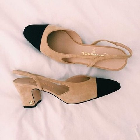 FREE SHIPPING Chanel suede slingbacks Size 38 - fit 7.5-8 - - Depop