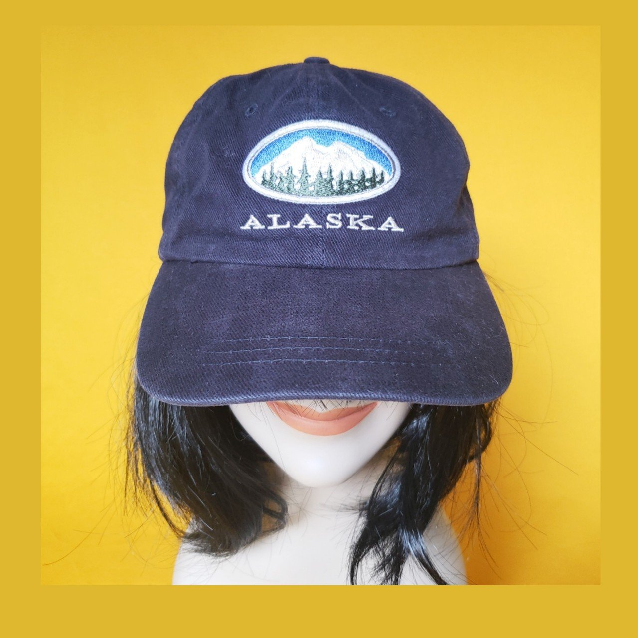 Alaska Dad Hat  8.50 Plus Shipping Velcro Adjustable - Depop f03a14741c2
