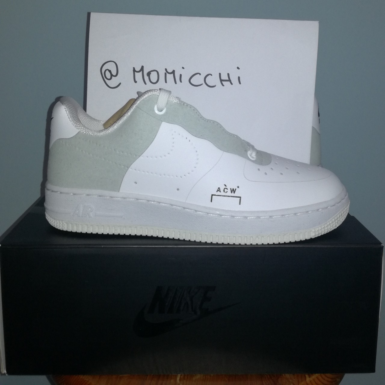 NikeLab Air Force 1 07 ACW A Cold Wall 5 US White Depop