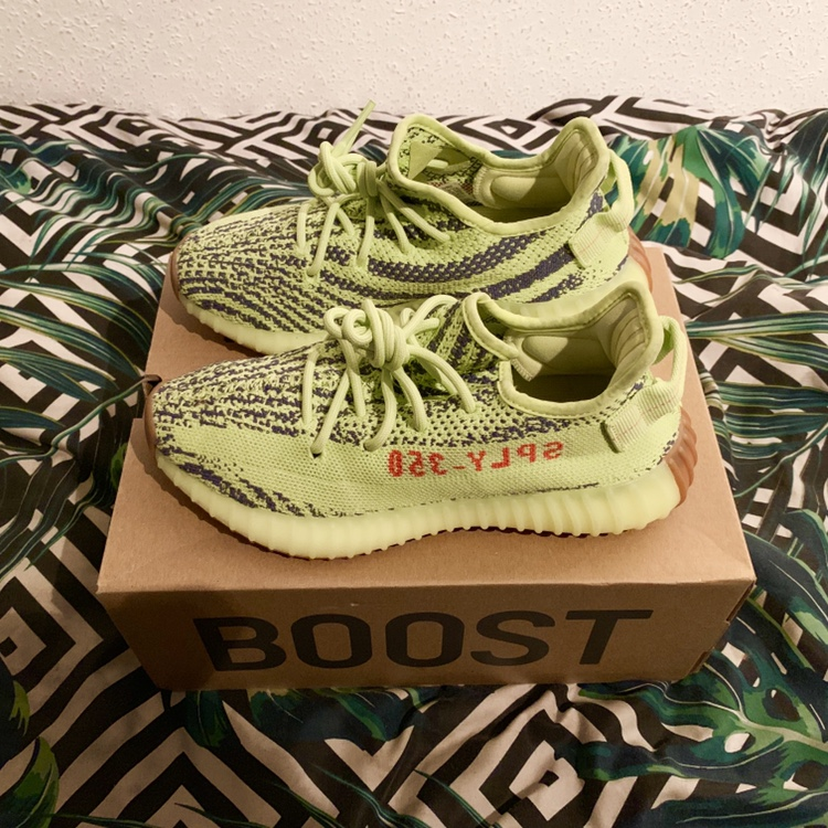 reputable site 84e97 a56d5 Yeezy Boost Neon Yellow Purchased last December... - Depop