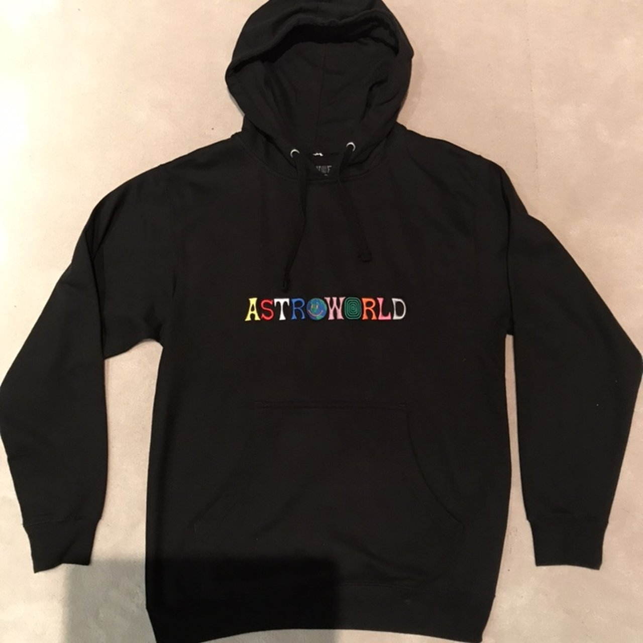 d268135e7cfc Astroworld embroided logo hoodie Bought from official Travis - Depop