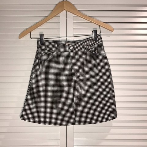 e5e312e043 @peypey3. 28 days ago. Redmond, United States. Gingham Print Brandy  Melville Mini Skirt