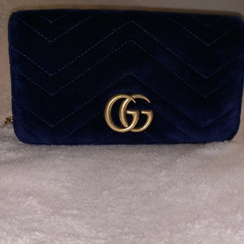 0642f363a1ef @lovernestine. 5 days ago. Carson, United States. Authentic Gucci Marmont  Velvet Wallet on Chain ...