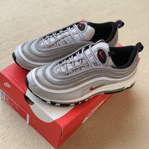 "4bb6781b1479 Air Max 97 OG QS ""Silver Bullet"". Condition 9.5 10. Comes - Depop"