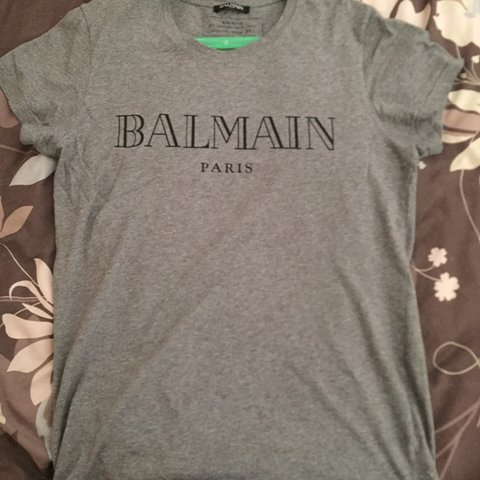 e5b551c3 Grey Balmain Small Men's T-Shirt. Brought from Selfridges, a - Depop