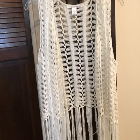 Crochet Fringe Vest This Cute Crochet Vest Is Perfect For Depop