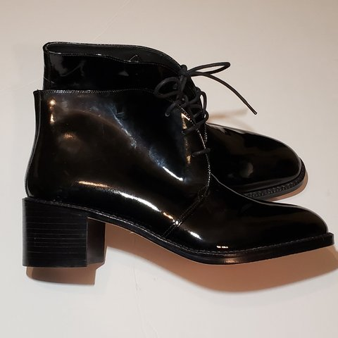 0694623f2adf FRANCO SARTO patent leather ankle boots