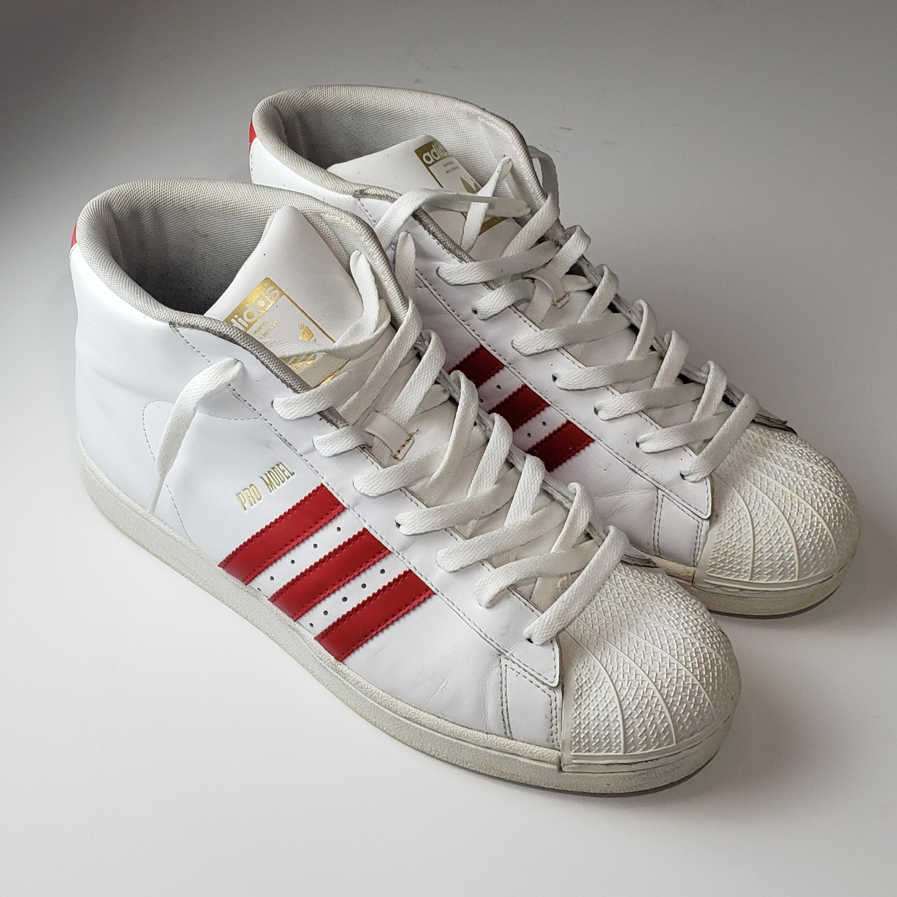 High Top Shell toe Adidas. These are