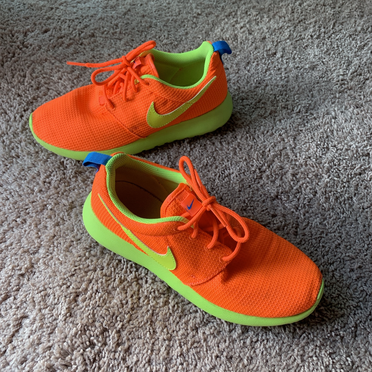 quality design e1c37 a0089 Neon orange Nike Roshe 1s! Condition: 9/10 Gently... - Depop
