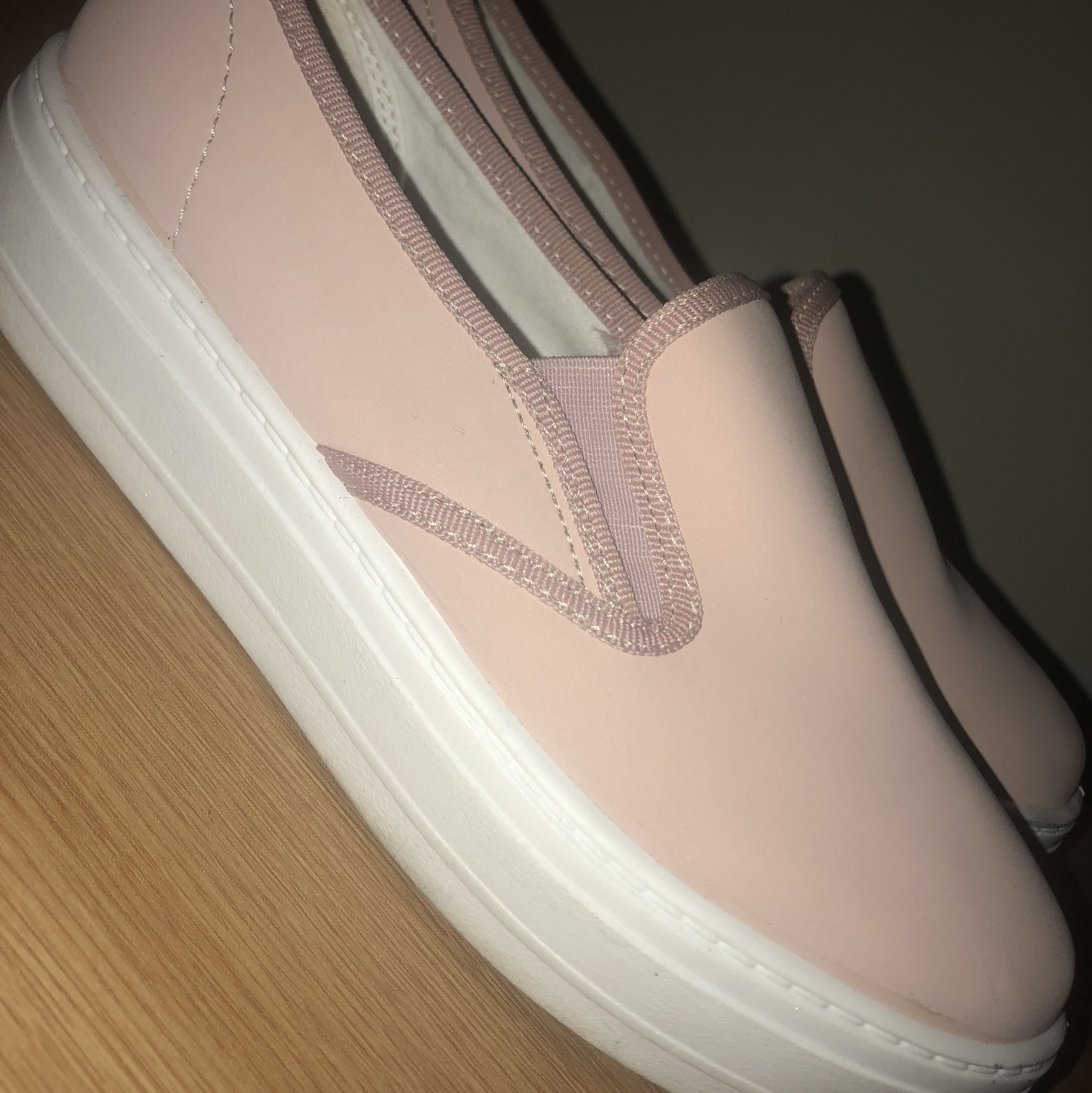 OFFICE BABY PINK FLATFORM TRAINERS