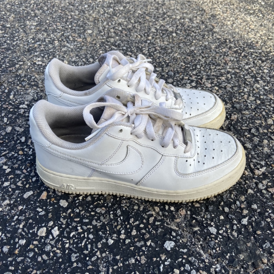 Nike Air Force 1 Low White Womens Size 8 5 Mens Size Depop