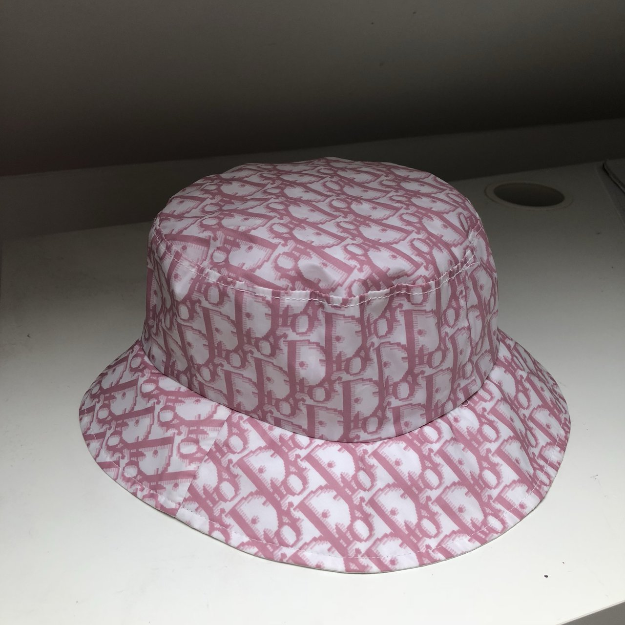 Y2k Dior pink monogram bucket hat. In perfect condition ✨ - Depop cb3c60c5997