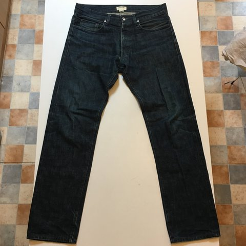 Helmut Lang Dark Navy Selvedge Denim Jeans Made In Usa Size Depop