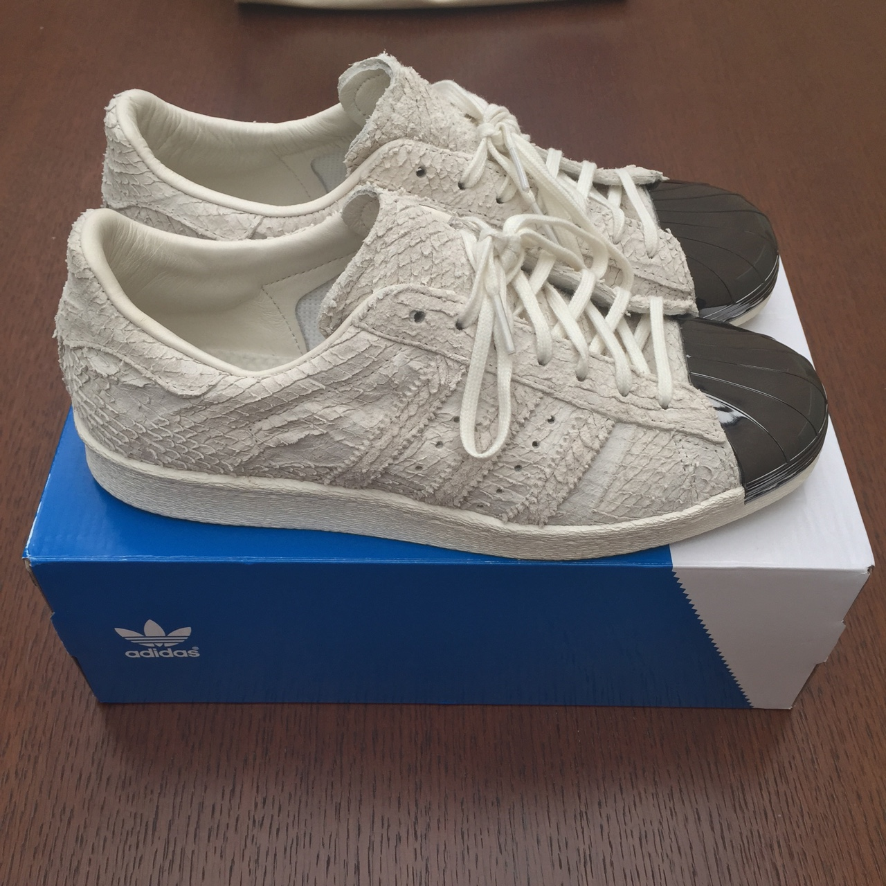 check out 7c00d 0ce09 Adidas superstar 80's 'Python / Metal Toe' limited... - Depop