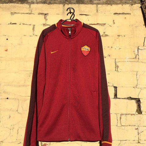 51c51eb8d Nike AS ROMA Zip Up Match Day Jacket 9.5 10 post the next   - Depop