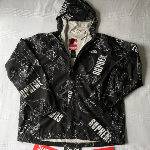 74452f2d ... norway supreme x north face venture hot shot jacket. from ss12. xl.  depop