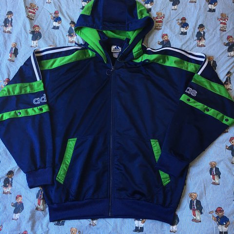 54c590db6 @alexcheesman. 2 years ago. Liverpool, United Kingdom. Vintage Navy & Green Adidas  90s Jacket • Excellent Condition • No Faults/Damages • Size Large ...