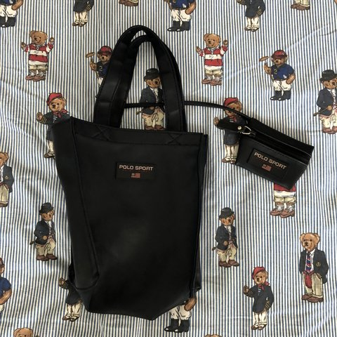 f5afe93b6e Vintage Navy Ralph Lauren Polo Sport Tote Bag With Matching - Depop
